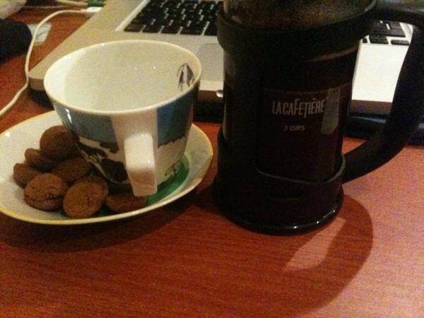 Coffee met pepernoten
