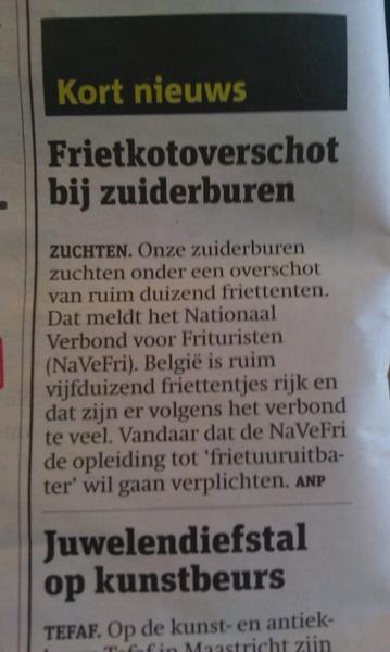 Ik dacht dat onze zuiderburen hielden van friet #belgie