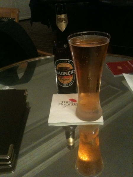 Lunch yesterday at the Rubens at the Palace after the Queen's Gallery and Royal Mews. Mmm cider. #London