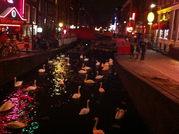 Busy in the red light district