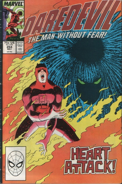 Let's not sleep totally on the DAREDEVIL cvrs. 254. DD BURNS!