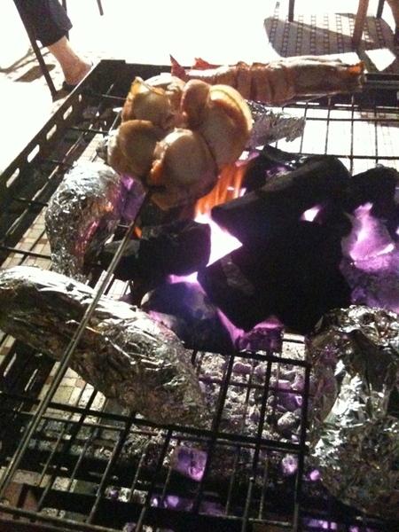 Scallop prawn BBQ