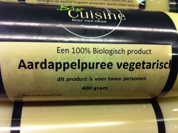 In de categorie 'bijzonder': Vegetarische aardappelpuree ...