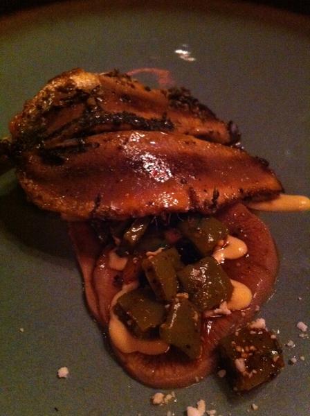 Ensenada hi-lites: beautiful dinner w chefs Benito&Solange @ Manzanilla. FRESHEST sardines w tongue&cactus salad