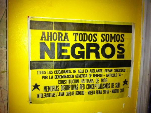Ahora Todos Somos Negros / memorials disruptivas / Chez bent & slammer
