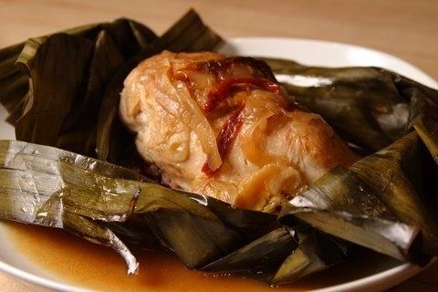 Amazg chix steamd n ban lvs w chipotle,plantain,sw potato.Rec n r Dec newsltr. Subscribe here: http://j.mp/dc3QM1
