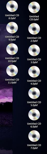 Why does iTunes pollute my MAC desktop when I burn CDs?