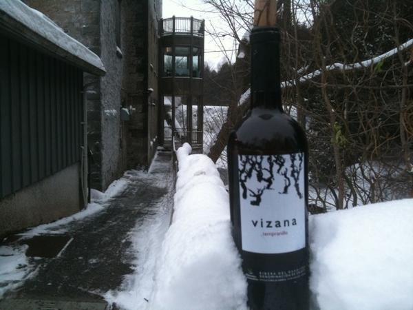 Enjoying Vizana Tempranillo Crianza at Millcroft Inn. Amazing wine, amazing location.