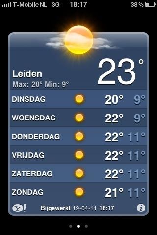 Check dat weerbericht #heerlijk #zon