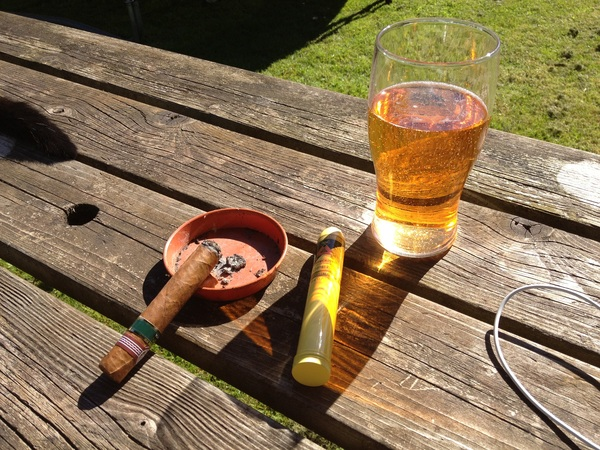 Cider and a Montecristo... Lovely!