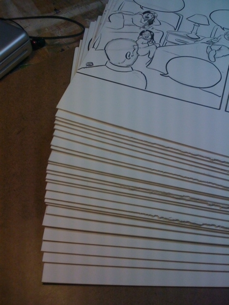 Stack of inked comics ready for painting. #ivebeenbusy