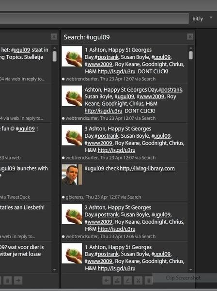 Twitterspam of hashtag spam tijdens #ugul09