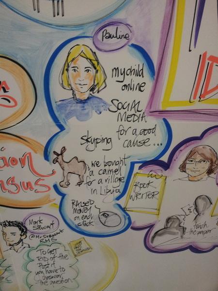 Leuke tekening #tmbett2013 over #sociaalmetmedia