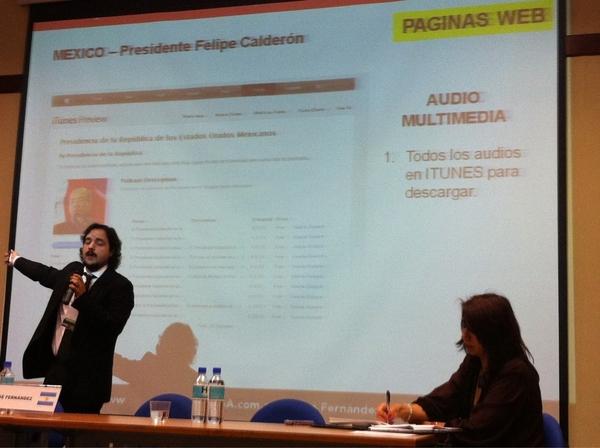 El presdente @FelipeCalderon  tiene todos los audios para descargar en ITunes #cumbre2011