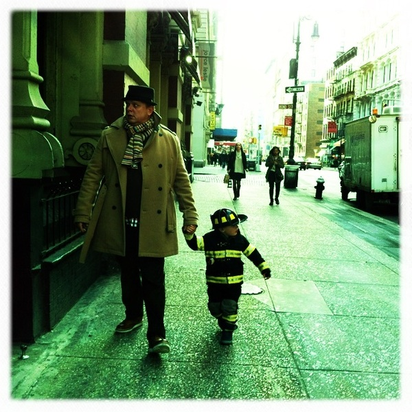 Fletcher of the day: Papa and the firefighter