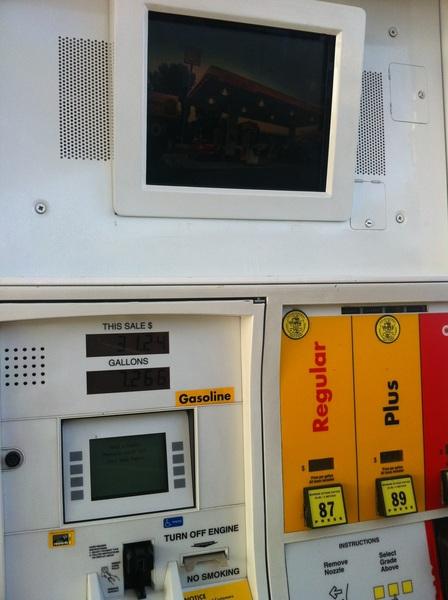 TV at the gas pump