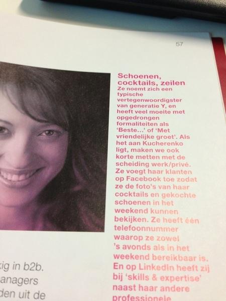 Slaat Tijdschrift voor Marketing open en ziet @katherinekucher voorbij komen.