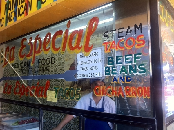 Taco Crawl #4: El Especial tacos al vapor, beef, beans or chicharrón in steamy tortillas w pkld carrots, jalapeño