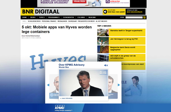 #KPMG recruitment pitch @wouterbos op BNR: Toch wel maf :)