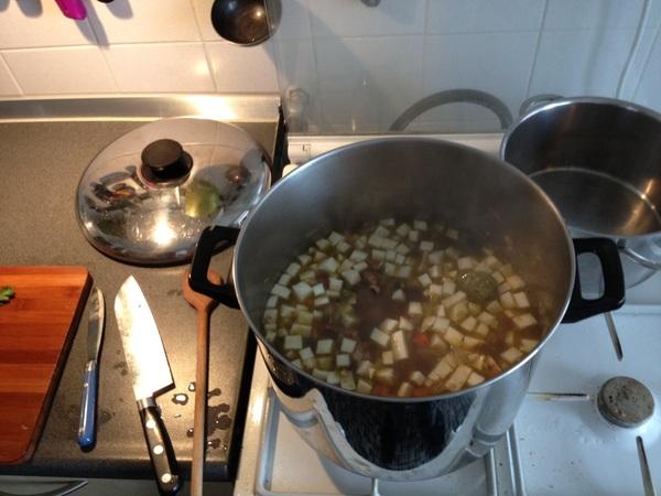 Lekker bonensoep maken op de zondagmiddag #nomnom